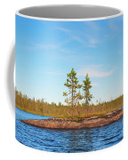 Island In The Form Of A Smooth Rock With Several Pines Coffee Mug