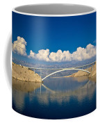 Island Of Pag Bridge And Velebit Mountain Coffee Mug
