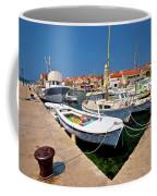 Island Of Prvic Harbor And Waterfront View In Sepurine Village Coffee Mug