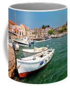 Island Of Prvic Turquoise Harbor And Waterfront View In Sepurine Coffee Mug