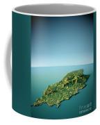 Isle Of Man 3d View South-north Natural Color Coffee Mug