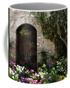 Italian Front Door Adorned With Flowers Coffee Mug