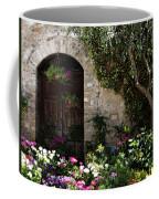 Italian Front Door Adorned With Flowers Coffee Mug