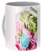 Italian Gelato Raspberry Ice Cream With Blue Umbrella Coffee Mug
