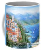 Italian Village By The Sea Coffee Mug