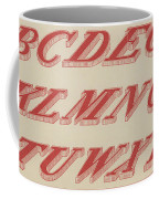Italic Shaded  Coffee Mug