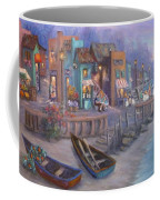 Italy Tuscan Decor Painting Seascape Village By The Sea Coffee Mug