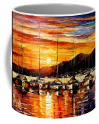 Italy - Naples Harbor- Vesuvius Coffee Mug
