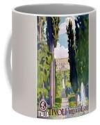 Italy Tivoli Vintage Travel Poster Restored Coffee Mug