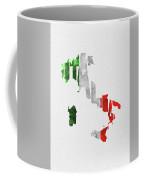 Italy Typographic Map Flag Coffee Mug