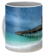 It's Getting Stormy At The Pier Coffee Mug