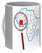 Ivory Coast Under A Magnifying Glass Coffee Mug