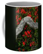 Ivy Geraniums And Log Coffee Mug