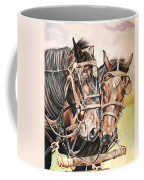Jack And Joe Hard Workin Horses Coffee Mug