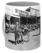 Jack Hendrickson With Pet Burro Number 2 Helldorado Days Parade Tombstone Arizona 1980 Coffee Mug