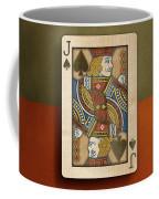 Jack Of Spades In Wood Coffee Mug
