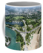 Jackson Park In Chicago Aerial Photo Coffee Mug