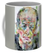 Jackson Pollock - Watercolor Portrait.3 Coffee Mug