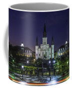 Jackson Square And St. Louis Cathedral At Dawn, New Orleans, Louisiana Coffee Mug