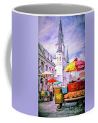 Jackson Square Scene - Painted - Nola Coffee Mug