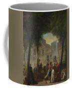 Jacques De Saint Aubin   A Street Show In Paris Coffee Mug
