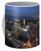 Jaffa At Night Aerial View Coffee Mug