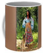 Jalma With Her Dog Ryzhko Coffee Mug