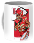 Jamaal Charles Kansas City Chiefs Oil Art Coffee Mug