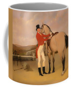 James Taylor Wray Of The Bedale Hunt With His Dun Hunter Coffee Mug