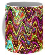 Janca Abstract Wave Panel #5at Coffee Mug