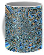 Janca Abstract With Blue 9646w3 Coffee Mug