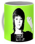 Jane Fonda Mug Shot - Lime Coffee Mug
