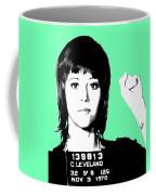 Jane Fonda Mug Shot - Mint Coffee Mug
