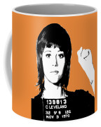Jane Fonda Mug Shot - Orange Coffee Mug