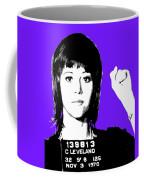 Jane Fonda Mug Shot - Purple Coffee Mug