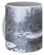 January Snow On The River Coffee Mug