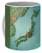 Japan 3d Render Topographic Map Border Coffee Mug