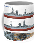 Japanese Battleship Ise Coffee Mug