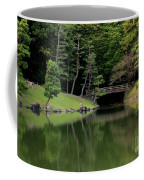 Japanese Garden Bridge Reflection Coffee Mug