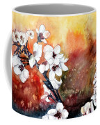 Japanese Cherry Blossom Abstract Flowers Coffee Mug