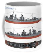 Japanese Destroyer Fubuki Coffee Mug