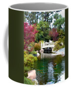 Japanese Garden Bridge And Koi Pond Coffee Mug