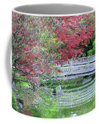 Japanese Garden Bridge In Springtime Coffee Mug