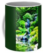 Japanese Garden Waterfall Coffee Mug