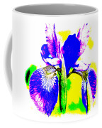 Japanese Iris Pop Art Abstract Coffee Mug