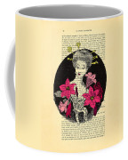 Japanese Lady With Cherry Blossoms Coffee Mug