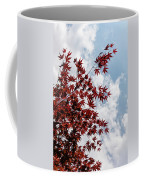 Japanese Maple Red Lace - Vertical Up Right Coffee Mug