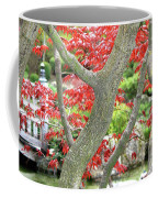 Japanese Maple Tree And Pond Coffee Mug