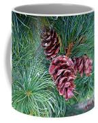 Japanese White Pine Pinecones Coffee Mug