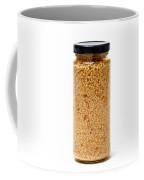 Jar Of Minced Garlic Isolated On White Coffee Mug